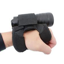 Scuba Diving LED Flashlight Holder Glove Lights Torch Hand Wrist Strap Mount