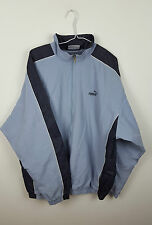 VTG ATHLETIC SPORTS MENS RETRO BLUE PUMA TRACKSUIT TOP JACKET VGC UK XL/2XL