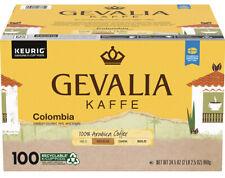 Gevalia Colombian Medium Roast Coffee Keurig K Cup Pods (100 Count) Brand New