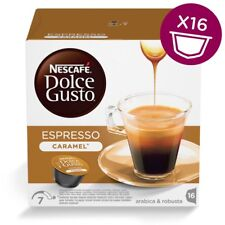 Nescafe Dolce Gusto Espresso Caramel Coffee Capsules, 16 Pods, 16 Drinks