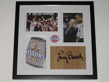 Larry Brown Signed Floorboard Detroit Pistons Basketball NBA Champions COA