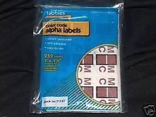 Tabbies M C Color Code Alpha Labels 71147  1 pack
