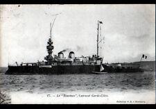 """BATEAU DE GUERRE """"LE BOUVINES"""" CUIRASSE GARDE-COTES en 1905"""