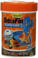 TETRA TETRAFIN GOLDFISH PLUS FLAKES 1 OZ CLEAR CLEAN FISH FOOD. TO USA