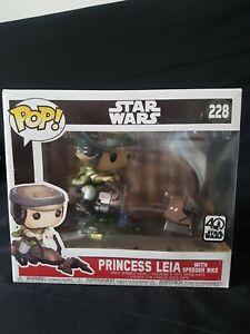 Figurine Funko POP! Deluxe : Star Wars : Princess Leia with speeder bike-n°228
