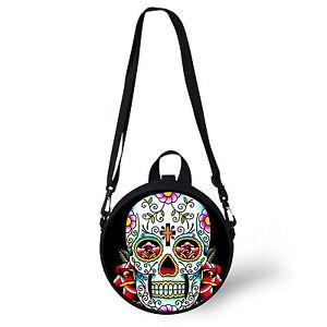 Fashion Skull Shoulder Bag Messenger Cross Body Satchel Small Children Backpack