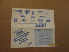 USFL Oakland Invaders Vintage Defunct Circa 1983 Football Season Ticket Brochure