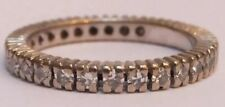 Antico Diamante Eternità Anello 18ct Bianco Oro 0,64 carati ART DECO BAND