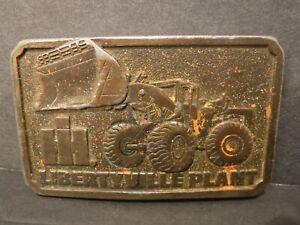 Collectible 1976 IH International Harvester Libertyville Plant Brass Belt Buckle