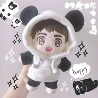 10/15/20cm KPOP Daniel EXO Jungkook Jin Plush Doll's Clothes Panda Suit【No DOLL】