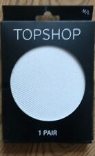 NEW-TOPSHOP- women's White Tights-SIZE M/L