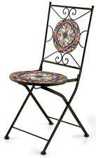 Sedia da Giardino Pieghevole in Ferro con Mosaico Soriani Paris