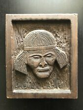 Fine Vintage Carved Folk Art Tribal Elder Woman Headband Wooden Handmade NICE NR