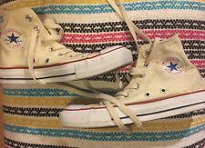Converse All Star Size 4 Cream Beige Hi Top baseball boots