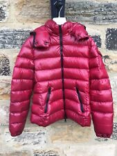 *GENUINE* Women's Moncler Bady Jacket SIZE 1 Puffer Coat RRP £1000 Pink Red Hood
