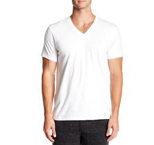 Calvin Klein 100% Cotton Men's V Neck 3 Pack White T Shirts 3813 Sz S/P