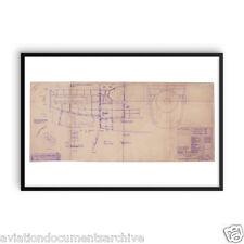 Rolls Royce Merlin Aircraft Engine Drawing Art Print Poster- 24x36 (60x90)