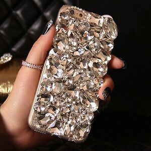 COOL DIAMOND DESIGNER BLING DIAMANTE CASE COVER GIFT IPHONE S9 6S S10 X XR 11 12