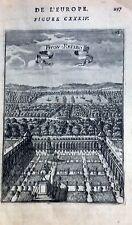 MADRID , PALACIO DEL BUEN RETIRO,  grabado original de Manesson Mallet 1693