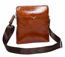 TOP Quality Crossbody Italian Leather Bag TAN Latest Zip Top Casual Flight Bag