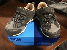 NIB STRIDE RITE Toddler Boys Sneaker Moss Brown Size 5M Memory Foam