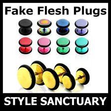 50 x Stainless Steel Fake Flesh Plug Ear Stretcher Stud Earring Wholesale JobLot