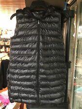 DKNY Womens Puffer Vest W/ Removable Fur Hood, Black, S