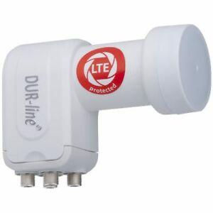 DUR-line +Ultra Premium Quattro LNB | für Multischalter LTE-Filter, FullHD, HDTV
