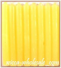 """Lot Of 8 Yellow Chime Spell Candles Mini 4"""" Pagan Wicca Altar Ritual Free Ship"""