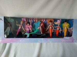 Disney Store Little Mermaid Ariel & Sisters Set of 7 Figures/Dolls 30th Annivers