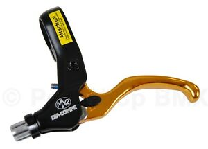 Dia-Compe MX2 bicycle BMX LEFT HAND brake lever - GOLD ANODIZED