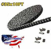 #35 Roller Chain 10 Feet with 2 Connecting Links