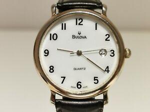 "VINTAGE BEAUTIFUL CLASSIC GOLD PLATED MEN'S SWISS QUARTZ 35MM WATCH ""BULOVA"""