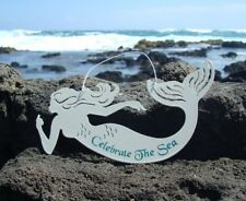 Celebrate The Sea Nautical Mermaid Beach Sand Texture Sign Wall Home Decor New