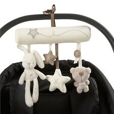 Rabbit Baby Music Hanging Bed Safety Seat Plush Toy Hand Bell Plush Toy Stroller