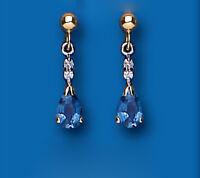 Sapphire and Diamond Earrings Kanchan Sapphires Yellow Gold Drop Drops