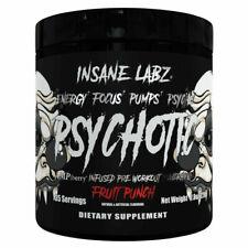INSANE LABZ PSYCHOTIC PRE WORKOUT 35 SRVS PSYCHOTIC BLACK!!! PICK FLAVOR