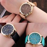 Fashion Women Lady Stainless Steel Quartz Leather Analog Girl Dress Wrist Watch