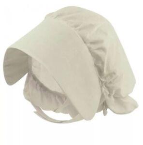 Girls Victorian Bonnet Mop Cap Fancy Dress Costume Child's Hat Accessory
