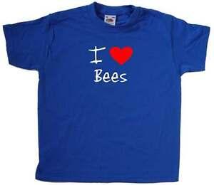 I Love Heart Bees Kids T-Shirt