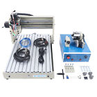 CNC Router Engraver 4 Axis 3040 400W Cutting Milling Drilling Machine 110V 60hz