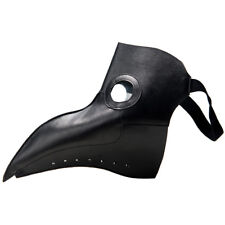 Gothic Steampunk Bird Mask Leather Plague Doctor Cosplay Costume Halloween Black