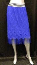 6th & LN LANE BRYANT NWT Cobalt Blue Crochet Stretch Skirt Plus sz 14/16 $59
