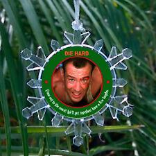 Die Hard John McClane Snowflake Blinking Light Holiday Christmas Tree Ornament