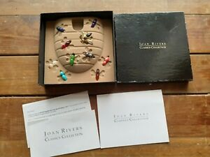 IOB Joan Rivers Crystal Accent Interchangeable Faux Stone Bee Pin