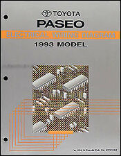 1993 Toyota Paseo Electrical Wiring Diagram Manual 93 NEW Original Schematic OEM