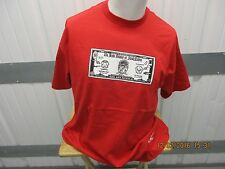 """SUPREME x PEDRO BELL """"BIG ASS MOOLA"""" S/S 2009 XL RED NEW W/O TAGS DEADSTOCK SOLD"""