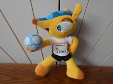 FUELCO THE ARMADILLO character soft toy BRAZIL 2014 MASCOT World Cup football