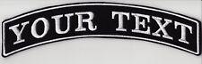 "11 1/2"" LARGE BACK TOP ROCKER PATCH BIKER TRIKER PERSONALISED CUSTOM SEW ON"