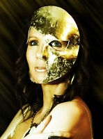 Gold Moon Mask Handmade Leather Venetian Masquerade